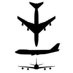 Free Stencils For Airplanes File Airplane Silhouette