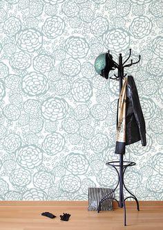 wallpaper / Hygge & West   Petal Pusher (White/Blue)