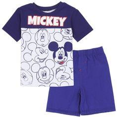 Disney Mickey Mouse Baby and Boys Clothing Toddler Boy Outfits, Toddler Boys, Kids Boys, Kids Outfits, Mickey Mouse Outfit, Mickey Mouse T Shirt, Teenager Boys, Short Niña, Boys Clothes Style
