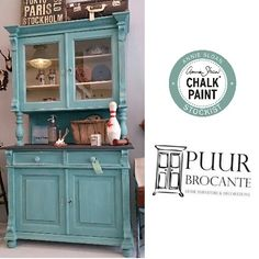 Provence - Love this color and can't wait to do a few pieces with it! Chalk Paint Projects, Chalk Paint Furniture, Diy Furniture Projects, Hand Painted Furniture, Furniture Makeover, Diy Projects, Buffet, Real Milk Paint, Painted Hutch