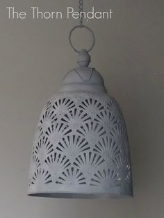 The Thorn Moroccan Grey Pendant Light. Available at The House Planner.