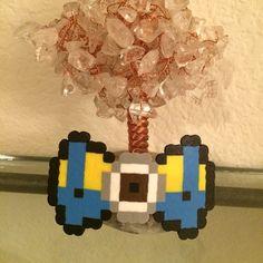 Perler Beads Minion Hair Clip by derstindesigns