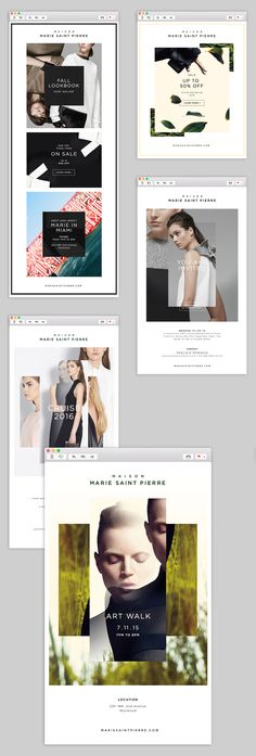 Art direction and graphic design for Maison Marie Saint Pierre, a montreal based… Fashion Graphic Design, Graphic Design Layouts, Layout Design, Lookbook Layout, Lookbook Design, Mise En Page Lookbook, Mises En Page Design Graphique, Newsletter Design, Weekly Newsletter