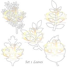 A personal favorite from my Etsy shop https://www.etsy.com/listing/554772924/pdf-set-1-leaves-5-different-styles-3
