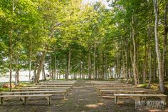Outdoor ceremony at Clinton Hills - woods location in Clinton PEI. Wedding photography by Brady McCloskey #PEIweddingphotography #PEIbrides