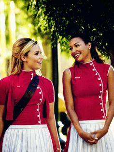 Demi Lovato and Naya Rivera aka Dani and Santana on Glee