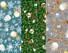 Totoro seasonal washi origami paper: winter