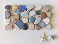Shades Of Light Blue, Neutral Colors, Different Colors, Art Projects, Tiles, Mosaic, Pottery, Sea, Crafts