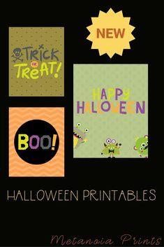 Set of 3 DIY Halloween Printable Decorations
