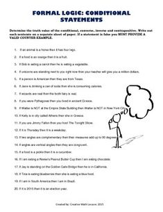 Printables Conditional Statements Worksheet first time teaching and the ojays on pinterest are you introducing formal logic to your class having trouble coming up with additional examples