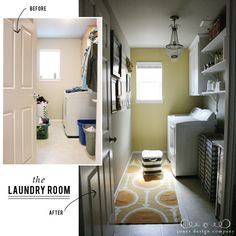 jonesdesigncompany shares laundry room transformation - now a place one wouldn't mind going!
