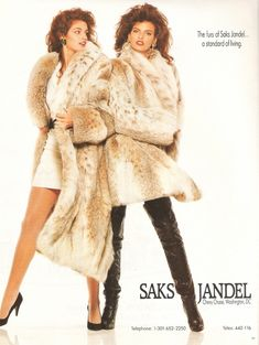 Model Pics : cindy crawford & linda evangelista in luxury furs Linda Evangelista, Fur Fashion, Leather Fashion, High Fashion, Drew Barrymore 90s, Vintage Outfits, Vintage Fashion, Vintage Fur, Vintage Leather