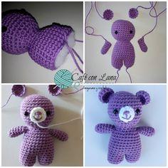 pas a pas en images - Crochet Passion Chat Crochet, Crochet Mignon, Crochet Tools, Crochet Rabbit, Crochet Diy, Crochet Amigurumi, Crochet Bear, Filet Crochet, Crochet Gifts