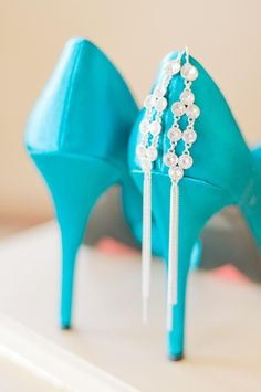 If I could learn to walk in these they'd be perfect for our teal wedding #summerswedding2015