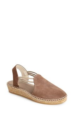 Toni Pons 'Nuria' Suede Sandal (Women) available at #Nordstrom in BLACK $150