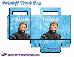 Frozen: Free Printable Paper Bags in Light Blue. | Oh My Fiesta! in english