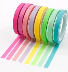 Kit-8-washi-tapes---Cores-neon
