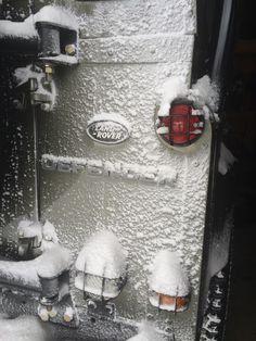 Defender in the snow Land Rover, jeep suzuki lj sj of road cool ice 4x4 love best car fun winter