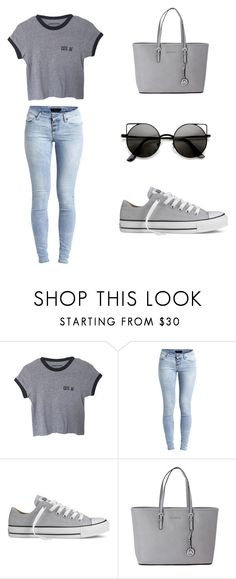 """""""Cute af"""" by komal0909 ❤ liked on Polyvore featuring Object Collectors Item, Converse, Michael Kors, women's clothing, women, female, woman, misses and juniors"""