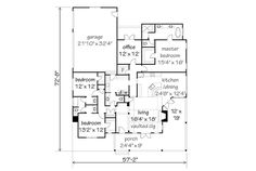 Terrific one-level floor plan, Chester's Creek Cottage, plan #1835