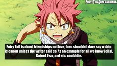 Fairy Tail is about friendships not love, fans shouldn't dare say a ship is canon unless the writer said so. As an example for all we know Jellal, Gajeel, Erza, and etc. Could die.