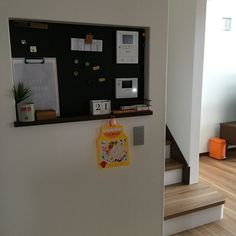 フランフラン/ナチュラル/カフェ風/こどもと暮らす。/ニッチ/黒板…などのインテリア実例 - 2016-05-21 19:51:25 | RoomClip(ルームクリップ) Gallery Wall, Frame, Interior, Kitchen, Room, House, Home Decor, Flower, Ideas