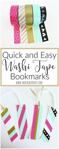 easy diy personalized duck tape washi tape poly bookmark.html