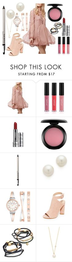 """Mini Beautiful"" by hillarymaguire ❤ liked on Polyvore featuring Free People, Sigma, Clinique, MAC Cosmetics, Trish McEvoy, Kenneth Jay Lane, Anne Klein, Kendall + Kylie, By Lilla and ZoÃ« Chicco"