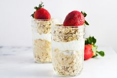 Strawberries & Cream Overnight Oats Recipe on Yummly