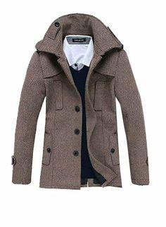AutumnWinter Men Fashion Overcoat Sobretudo Masculino Thick Warm Casaco Coat Men Slim Fit Long Trench Coat Peacoat