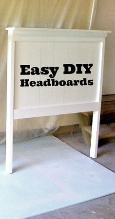 Super easy to make headboards for my guest bedroom!