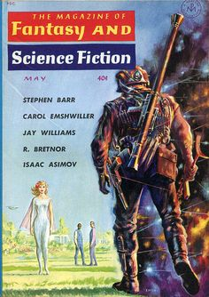 scificovers:  The Magazine of Fantasy and Science Fiction May 1961. Cover by Ed Emshwiller.