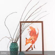 Dekoideen für das Regal im Wohnzimmer mit vintage Ölgemälde vom ...