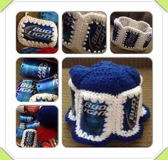Crocheted Beer can hat
