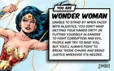 If I lived in the DC Comics universe I'd be Wonder Woman! What about you? #ZimbioQuiz #DCComicsnull - Quiz