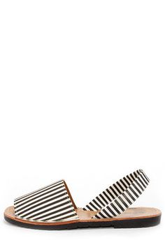 c57cb0ce2a3ea Dirty Laundry Elevate Stripe Black and White Sandals