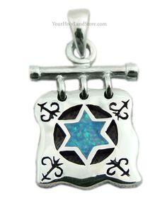 UNIQUE STAR OF MAGEN DAVID PENDANT #jewelry #beautiful #jewish #judaica #necklace #starofdavid #blue