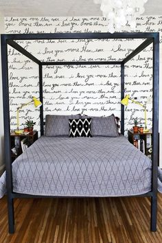 DIY Decor Trend: Handwritten Script.....Lyk the Wallpaper!GOSH!!!!