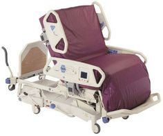 The refurbished The Hill-Rom TotalCare Sport ICU Hospital Bed for sale. Delivered patient-ready with one year warranty.
