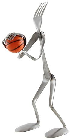 Basketball Player  Fork by ForkedUpArt on Etsy