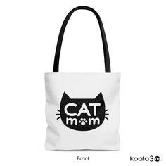 Cat Lover!!! Cat Mom Tote Bag, Cat Tote Bag, Cat Mom Books Bag, Cat Grocery Bag, Cat Shopping Bag, Cat Bag