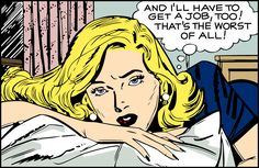 """Comic girls say .. """" And I''ll have to get a job too  ! that's the worst of all!""""    #comic #popart #vintage"""