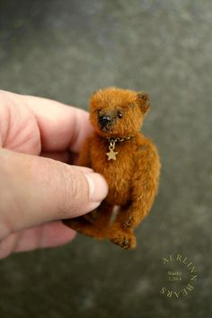 Stanley, Miniature 7cm Artist Teddy Bear from Aerlinn Bears
