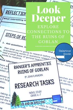 Ranger's Apprentice - The Ruins of Gorlan - Research Task  Explore connections and look deeper with these research tasks from Galarious Goods