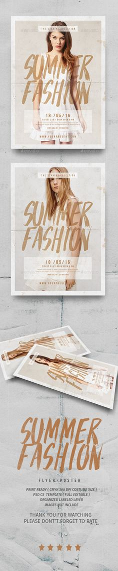 Buy Summer Fashion Flyer by lilynthesweetpea on GraphicRiver. Summer Fashion Flyer Features The flyer's size is – 210 mm x 297 mm + bleed, CMYK Layers are all well. Web Design, Email Design, Flyer Design, Layout Design, Print Design, Promo Flyer, Plakat Design, Branding, Fashion Graphic