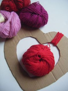 Super simple idea I thought at first would look stupid but with my leftover fuzzy red yarn I bet it would look nice!