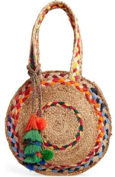 New Steve Madden Balzie Woven Circle Tote Womens accessories. offers on top store Wholesale Handbags, Handbags On Sale, Tote Handbags, Purses And Handbags, Summer Purses, Summer Bags, Steve Madden, Butterfly Bags, Circle Purse