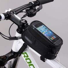Cycling Bicycle Bike Frame Front Pannier Tube Bag Pouch for 4.2  Cell Phone