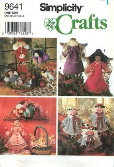 Simplicity Crafts 9641 Sewing Pattern for Christmas Decorations and Ornaments by CarlasHope on Etsy