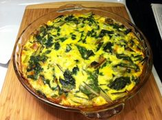 crustless swiss chard quiche, (for our CSA chard) to which we will add bacon, of course.